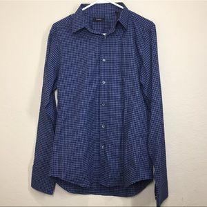 Theory Sylvain Piran Slim Fit Check Shirt C4